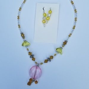 Jewelry - Handmade necklace and earring set